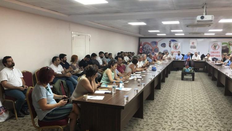 TTB Sağlıkta Şiddete Karşı Bildirgesini Tabip Odalarının katılımıyla Şanlıurfa Tabip Odası Ev Sahipliğinde Açıkladı