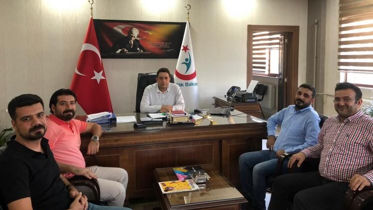 Şanlıurfa Halk Sağlığı Başkanlığına Atanan Dr. Abdullah Solmaz'ı Makamında Ziyaret Ettik.