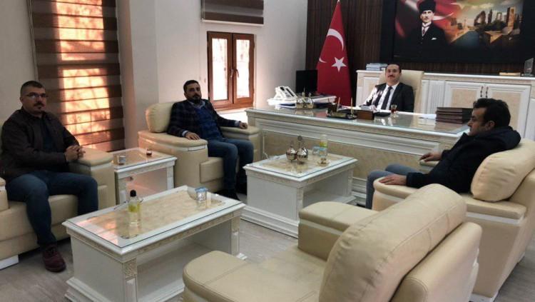 İl Sağlık Müdürü Doç. Dr. M. Emre Erkuş'a hayırlı olsun ziyareti.