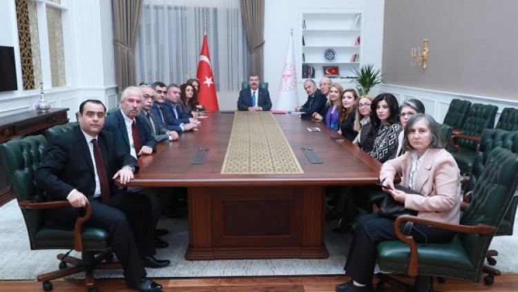 Sağlık meslek örgütleri temsilcileri Sağlık Bakanı Fahrettin Koca ile görüştü.