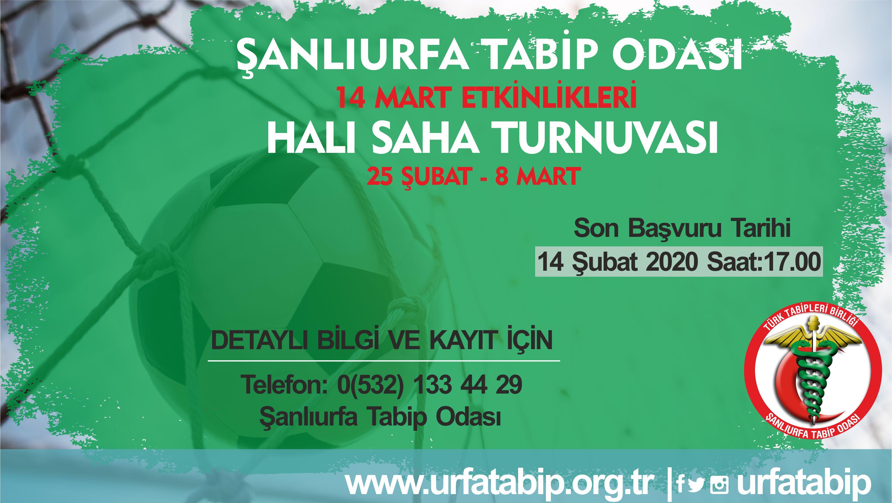14 Mart Tıp Haftası Etkinlikleri Kapsamında Halı Saha Futbol Turnuvası Düzenlenecektir.