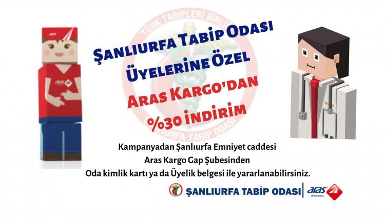 Aras Kargo'dan, Şanlıurfa Tabip Odası'na %30 indirim Anlaşması İmzalandı.